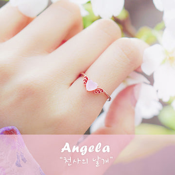 ANGELA Ring (rose quartz) - Wingbling Global