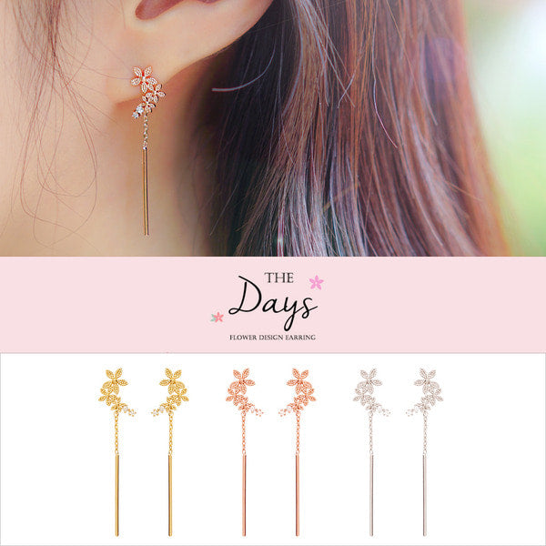 DAYS Earring (silver pin) - Wingbling Global