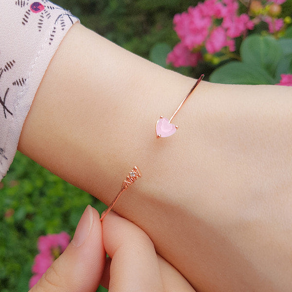 ELLEN Bangle (rose quartz) - Wingbling Global