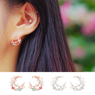 MOON GARDEN Earring (silver pin) - Wingbling Global