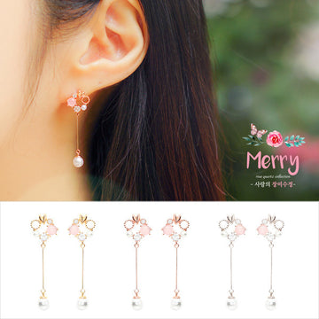 MERRY Earring (rose quartz) - Wingbling Global