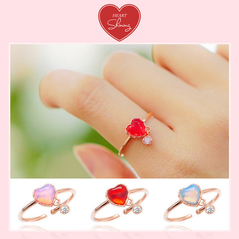 SHINING HEART Ring (aurora stone) - Wingbling Global