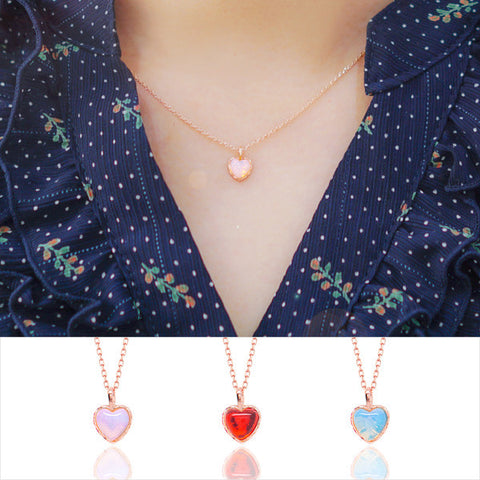 SHINING HEART Necklace (aurora stone) - Wingbling Global