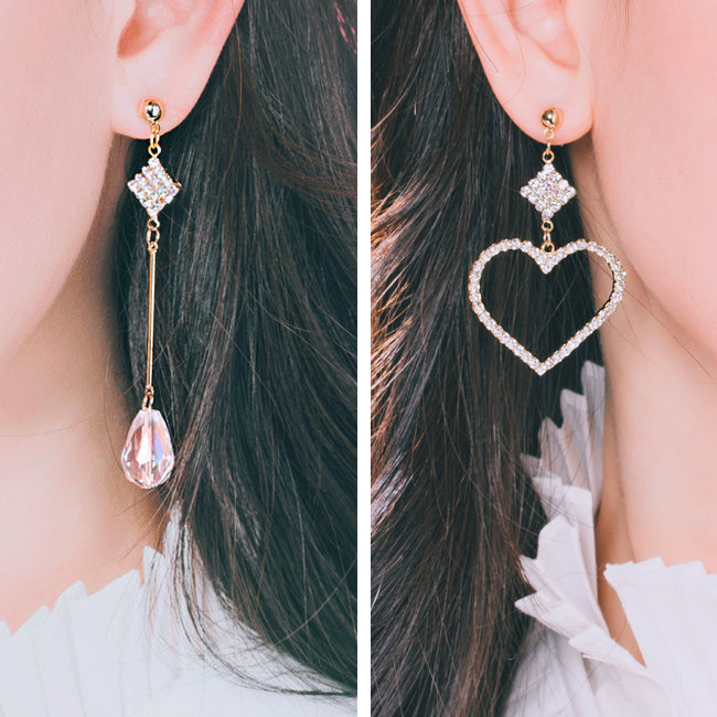 LOVING YOU Earring (swarovski crystal, clip-on available) - Wingbling Global