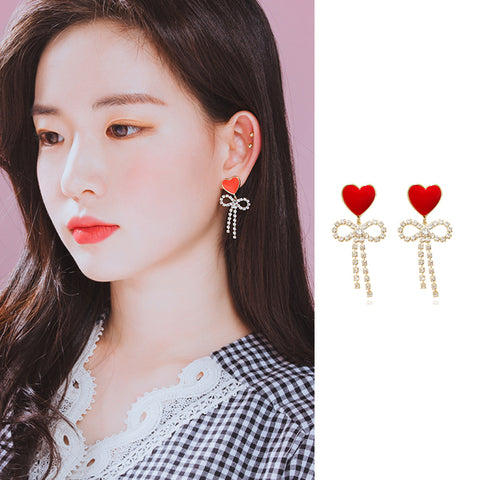 I LIKE YOU Earring (clip-on available, swarovski) - Wingbling Global