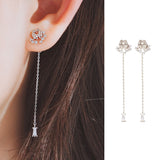 TEAR OF GLACIER 2-PENGUIN Earring (silver pin, clip-on available)