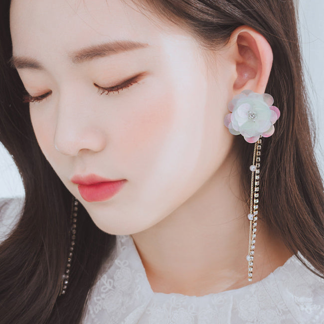 MINT BLOSSOM Earring (clip-on available) - Wingbling Global