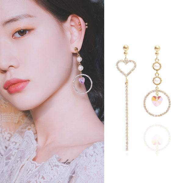 SECRET ROMANCE Earring (silver pin, swarovski, clip-on available) - Wingbling Global
