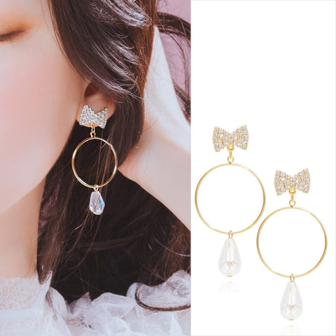 MY HEART Earring (swarovski, clip-on available) - Wingbling Global