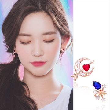 CUPID'S LOVE Earring (silver pin, swarovski, clip-on available) - Wingbling Global