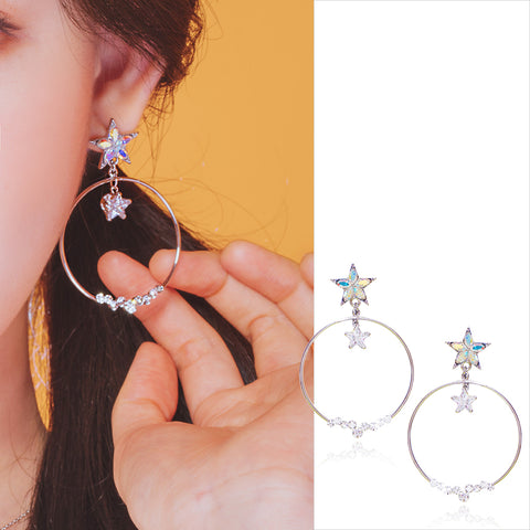 EMBRACING THE STAR Earring (clip-on available) - Wingbling Global