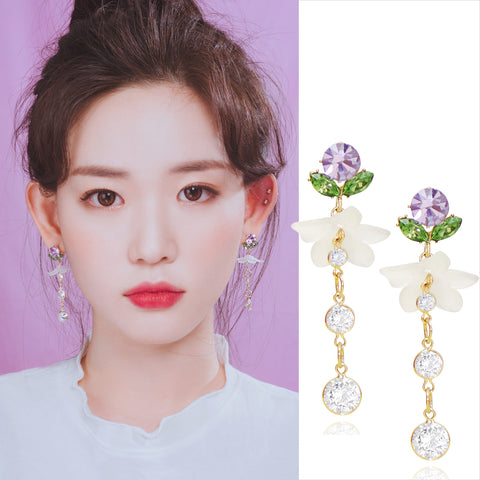 SCENT OF PURPLE Earring (silver pin, clip-on available) - Wingbling Global