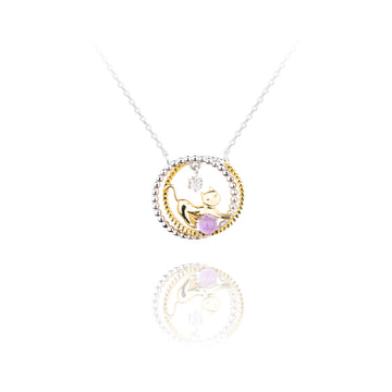 Star Cat Wheel Necklace