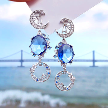 MARINE CITY BUSAN Earring (silver post)