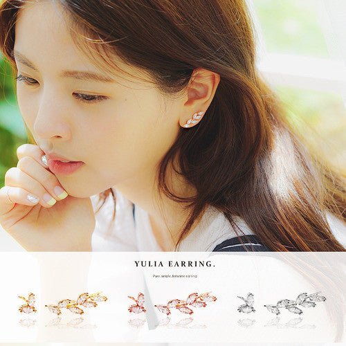 YULIA Earring (silver pin) - Wingbling Global