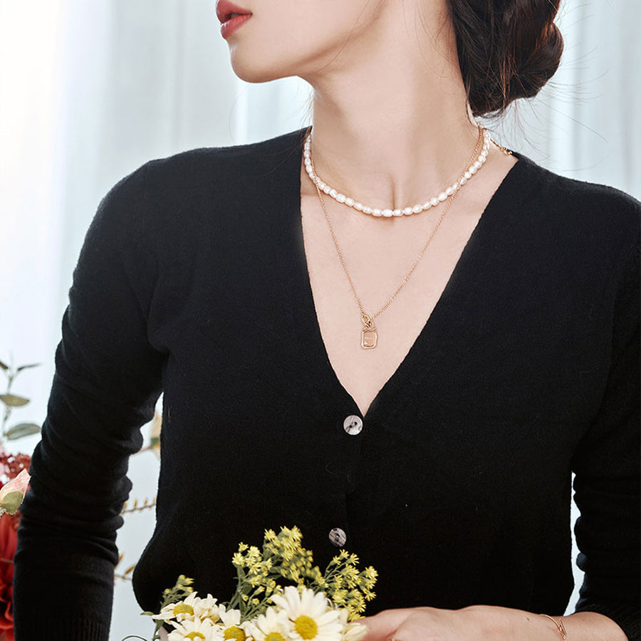 925 silver Timeless natural diamond necklace