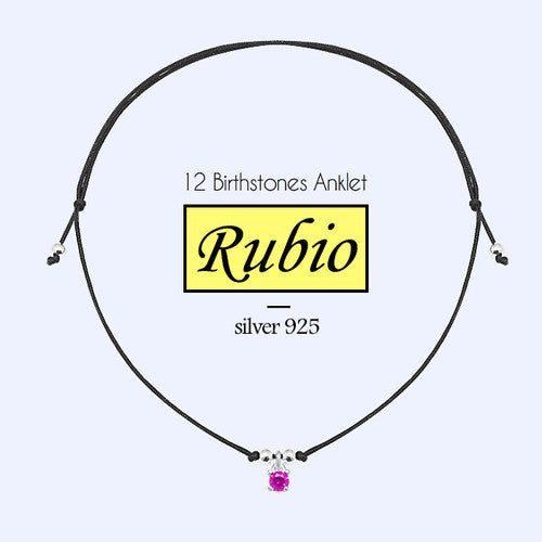 RUBIO Anklet (birthstone) - Wingbling Global