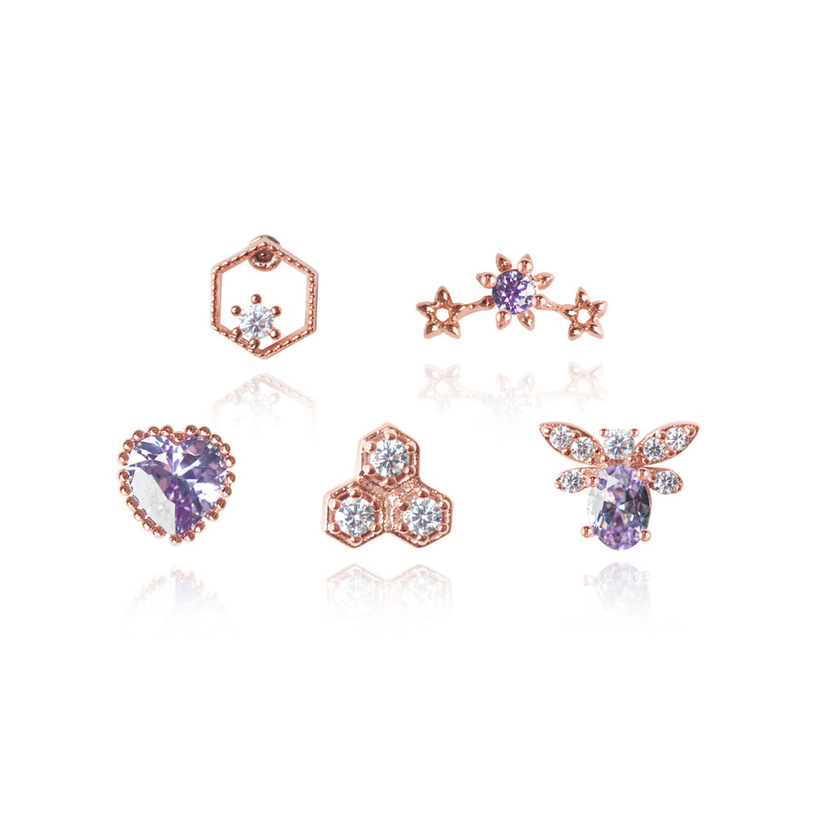 Lavender Scent Piercings Set