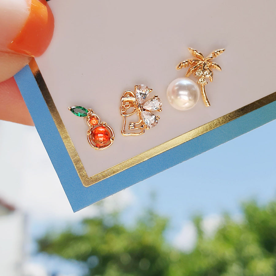EVERYDAY JEJU Earrings/Piercing set (4pcs)