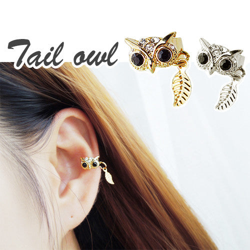 TAILED OWL Ear Cuff - Wingbling Global