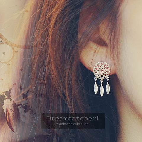 DREAMCATCHER 1 Earring (silver pin) - Wingbling Global