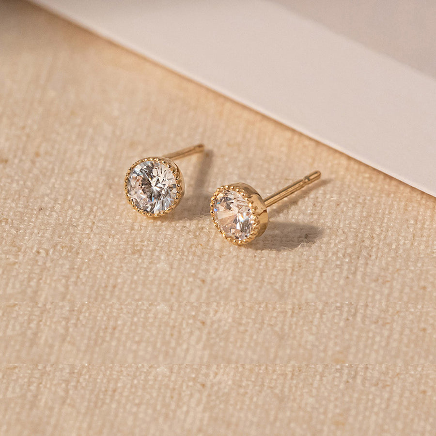 [14K GOLD] Andlight Stud Earring