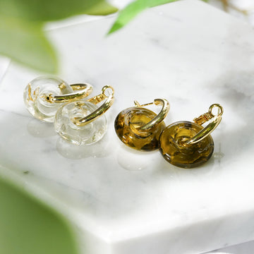 Glass Wave Earring