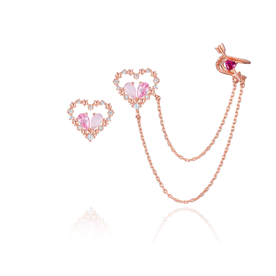 Pinkish love Earring Earcuff