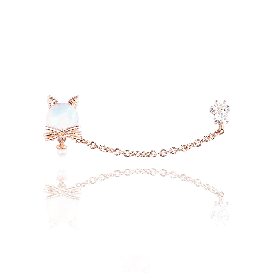 Lovely Cat Two Pin Earring