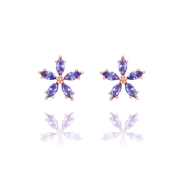 Lavender Bloom3 Earring