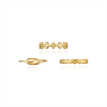 Mono Crumple Rings SET
