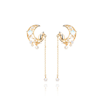 Cat Catch the Stars Earring