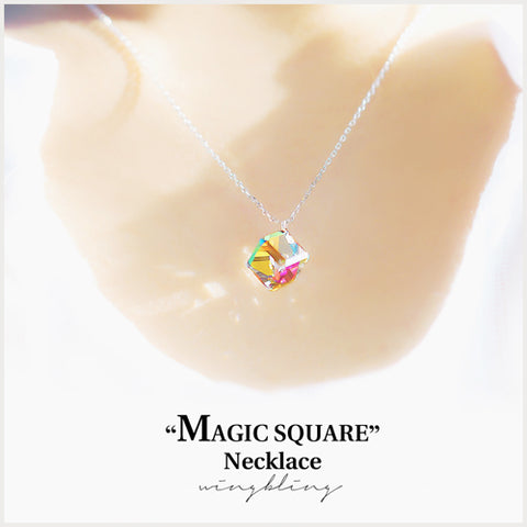 MAGIC SQUARE Necklace (swarovski) - Wingbling Global