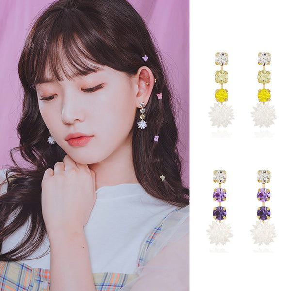 STARLIGHT RAIN Earring (silver pin, clip-on available) - Wingbling Global