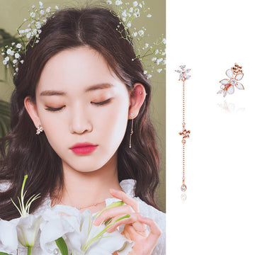 LILY BLOSSOM Earring (silver pin, clip-on available) - Wingbling Global