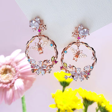 HONEYBEE DREAM Earring (clip-on available) - Wingbling Global