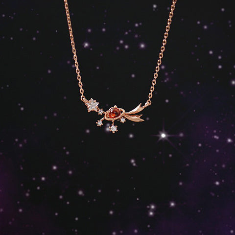 SHOOTING STAR BIRTHSTONE Necklace (swarovski) - Wingbling Global