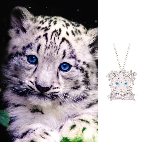 ENDANGERED SNOW LEOPARD Necklace - Wingbling Global