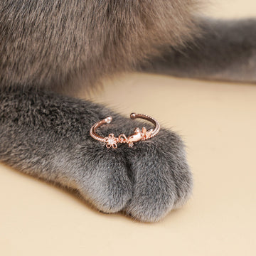 Blooming Cat Ring