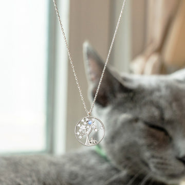 Lucky Tree Cat Necklace