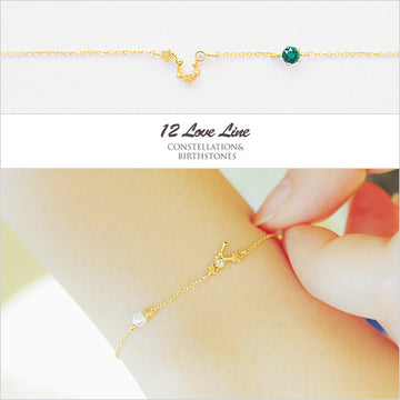 LOVE LINE Bracelet (zodiac & birthstone) - Wingbling Global