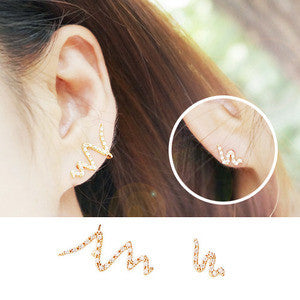 WAVE Earring (silver pin) - Wingbling Global