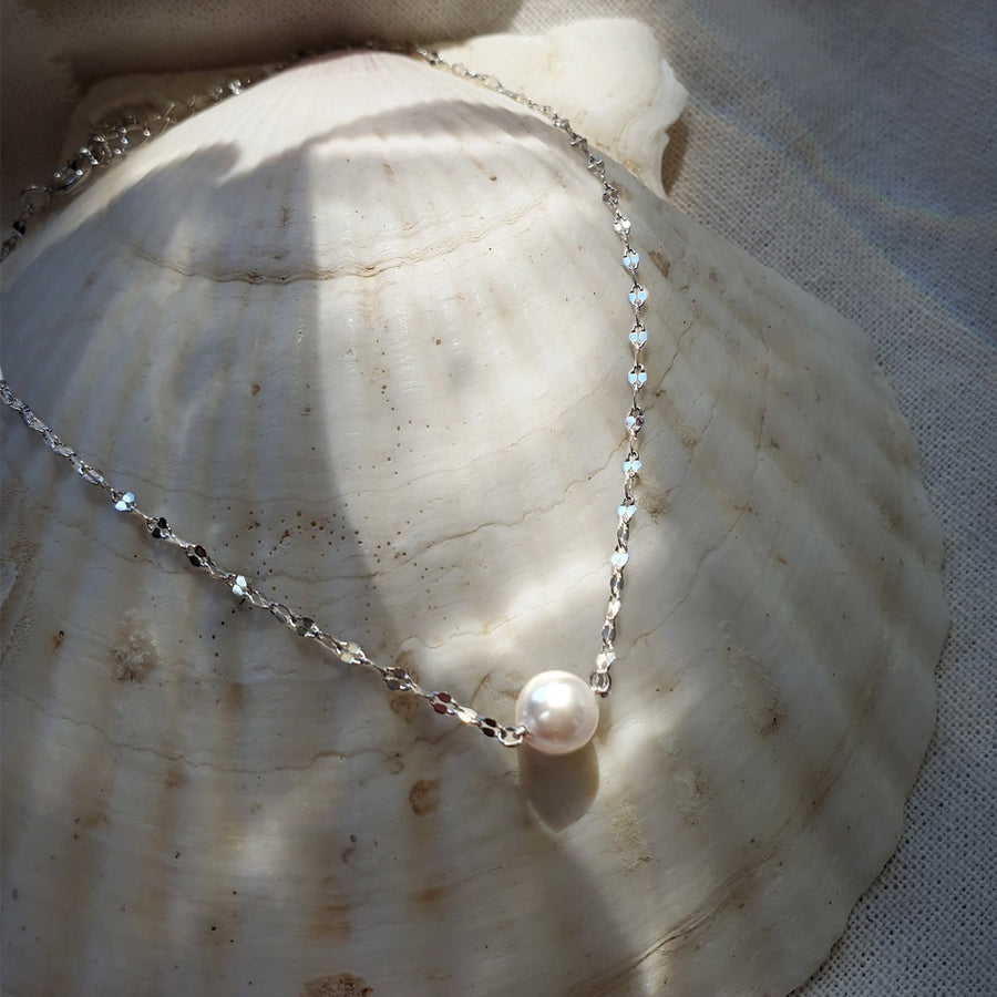 GLORIA Necklace (925 silver, pearl)