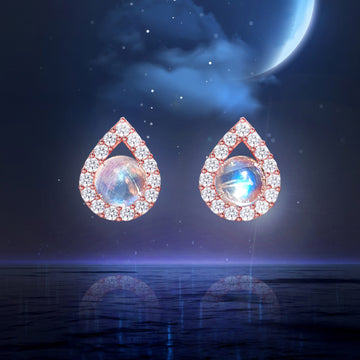 [DayBling] MOONSTONE TEARS Earring (natural moonstone)