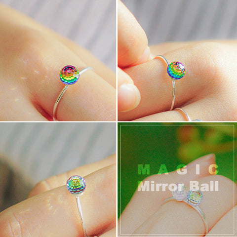 MAGIC MIRROR BALL Ring (swarovski) - Wingbling Global