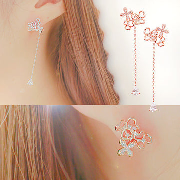 GAIA'S GIFT Earring (two-way, silver pin, drop style) - Wingbling Global