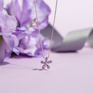 Lavender Bloom3 Necklace
