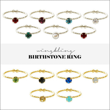 PETIT BIRTHSTONE Ring - Wingbling Global