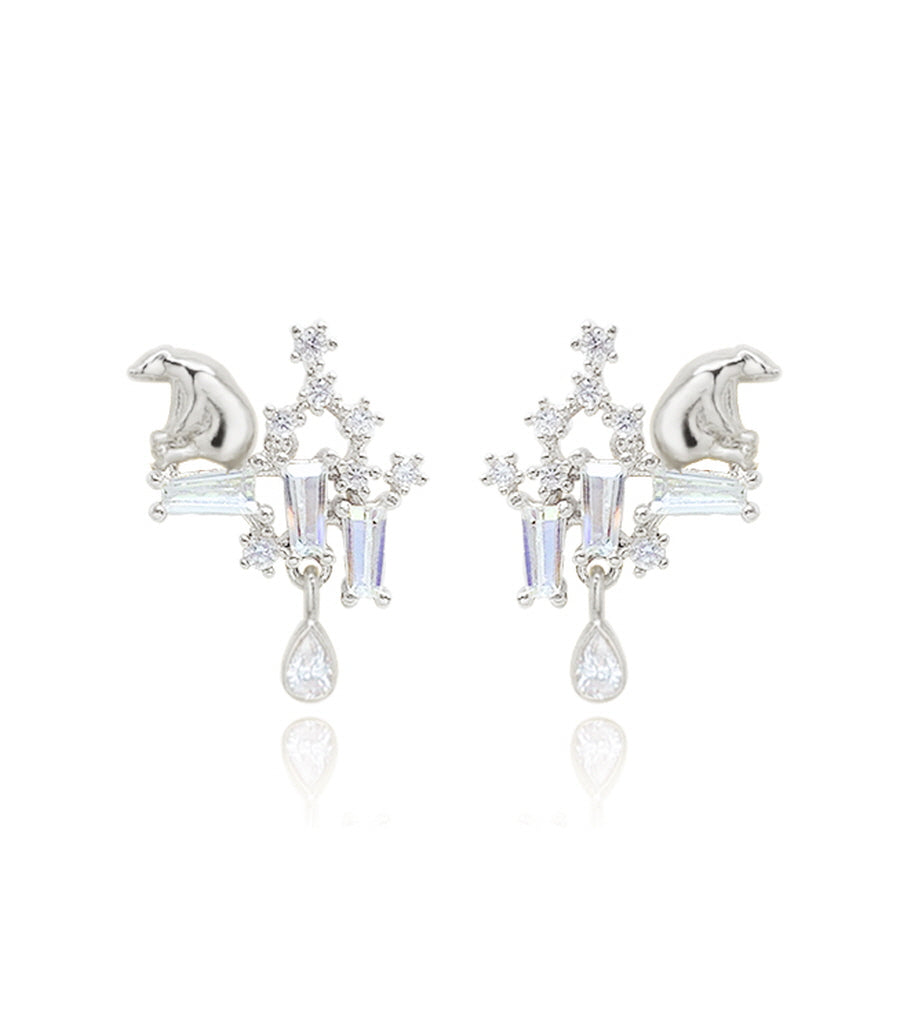 TEAR OF GLACIER 1-POLAR BEAR Earring