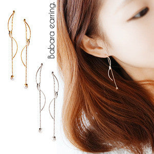 BABARA Earring (silver pin, two-way) - Wingbling Global